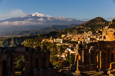 Greek arena in Taormina and Etna