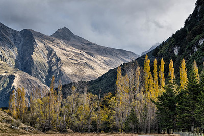 Matukituki river valley near the Wanaka - Mt. Aspiring Rd.