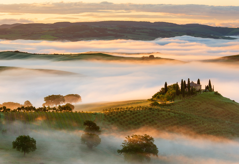 Belvedere in Val d'Orcia in May