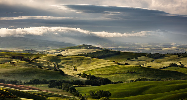 Morning light in Tuscan landscape