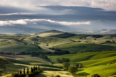 Morning view in Val d'Orcia