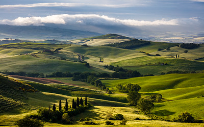 Morning light in Val d'Orcia