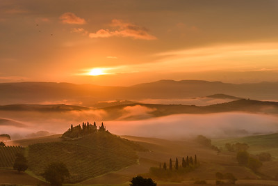 Tuscany morning at Belvedere