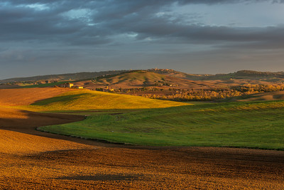 Morning light over Tuscan fields