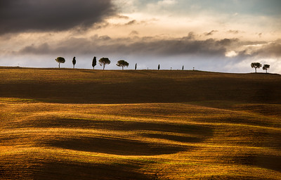 Rolling hills in Tuscany
