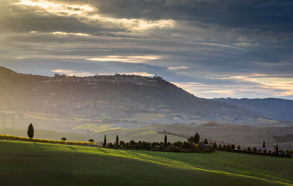 Montalcino at sunset
