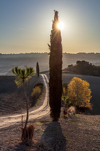 Tuscany in the autumn light