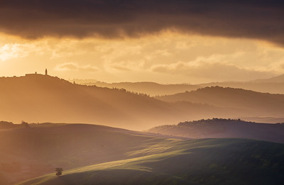 Morning light over Pienza