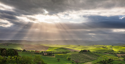Divine light over Belvedere