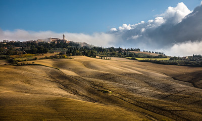 Pienza in autumn light