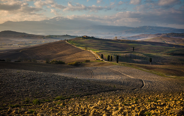Tuscan hills and roads