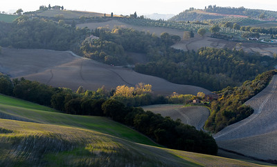 Tuscan fields in autumn