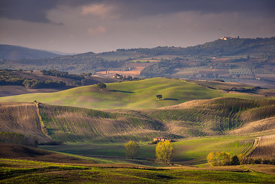 Tuscan landscape in morning light