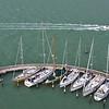 Segelboote vor San Georgio