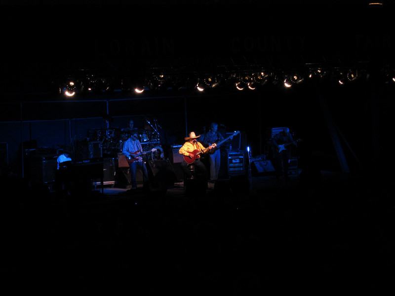 Charlie Daniels at the Lorain County Fair.  I took this from the stands with my little S90.