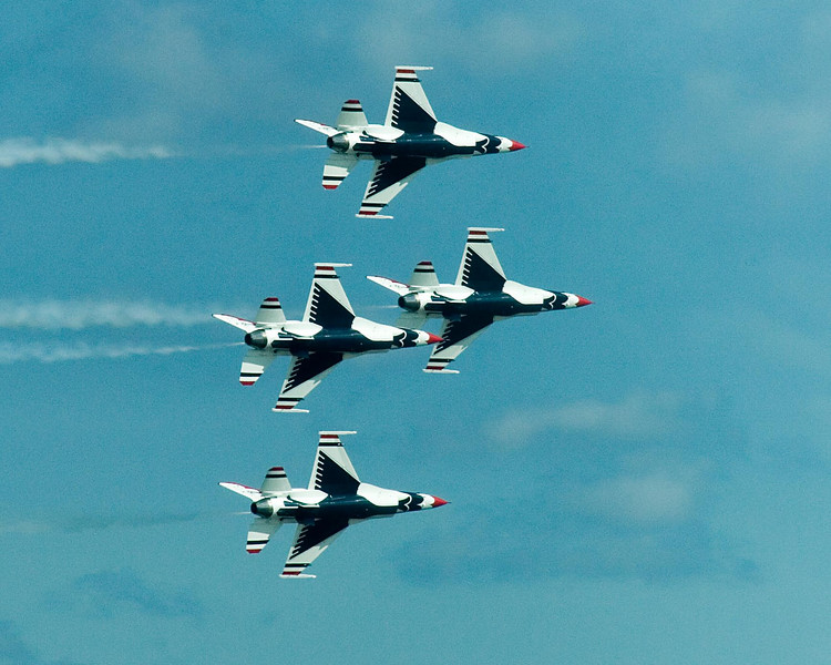 August 31, 2007.  Usually they have the Blue Angels, but this year it was the Thunderbirds.