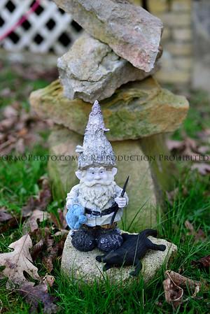 A Gnome and his alligator