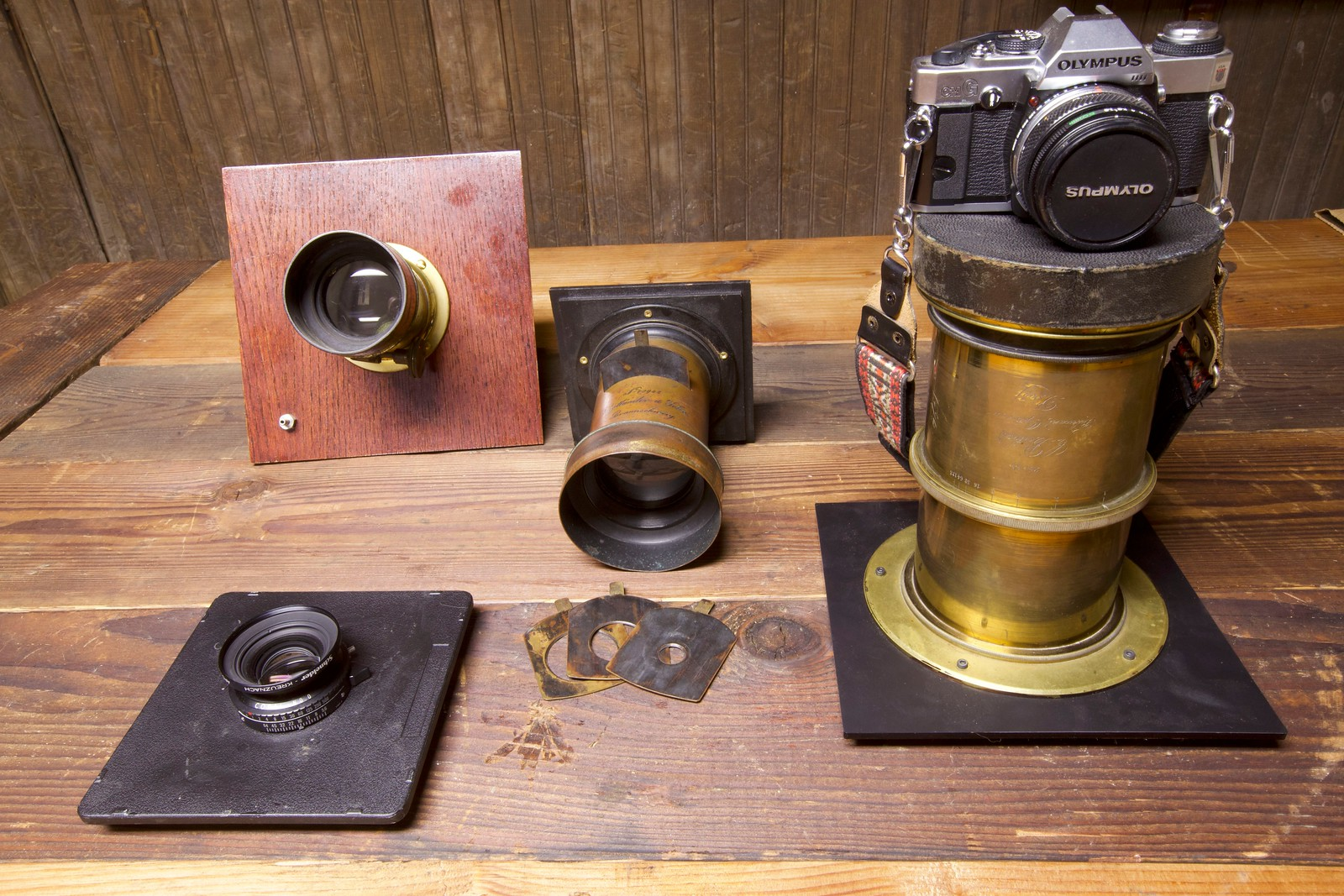 Antique and modern lenses