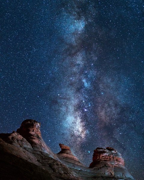 Vertical Milky Way over The New Wave