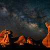Vibrant Milky Hovering Over Toadstool Hoodoos, Page, AZ