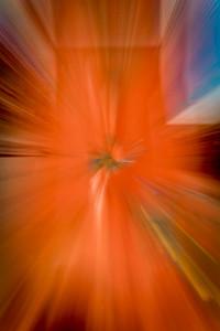 Zoom blur, 1/4s, vignette, contrast, saturation