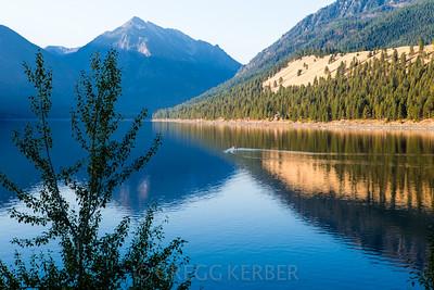 Morning light on Wallowa Lake, Sept 2013.