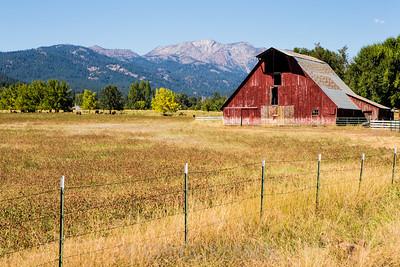 Wallowa view along Lone Fir Rd, Sept 2013.