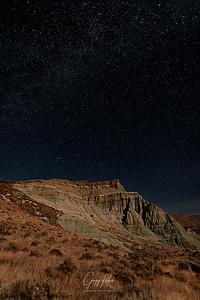 Made from 12 light frames by Starry Landscape Stacker 1.8.0.  Algorithm: Min Horizon Noise