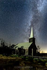 Milky Way over Locust Grove Church