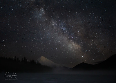 Milky Way over Mt Hood from Lost Lake
