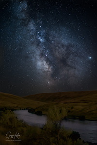 Milky Way over the Deschutes River
