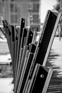 Vertical lines. Shallow depth of field.