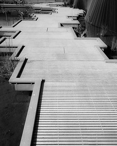 Textures created with walkway and jagged lines
