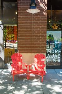 Vertical elements. Symmetric chairs.