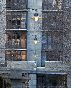 Line created by overhead lights