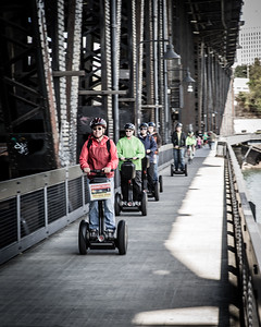The Segway gang. I didn't have time to change settings and my shutter speed was too slow (1/20) to get a sharp image.