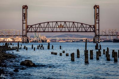 Railroad Bridge and Freemont Bridge