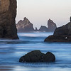 Sea stacks at Bandon Beach (color)