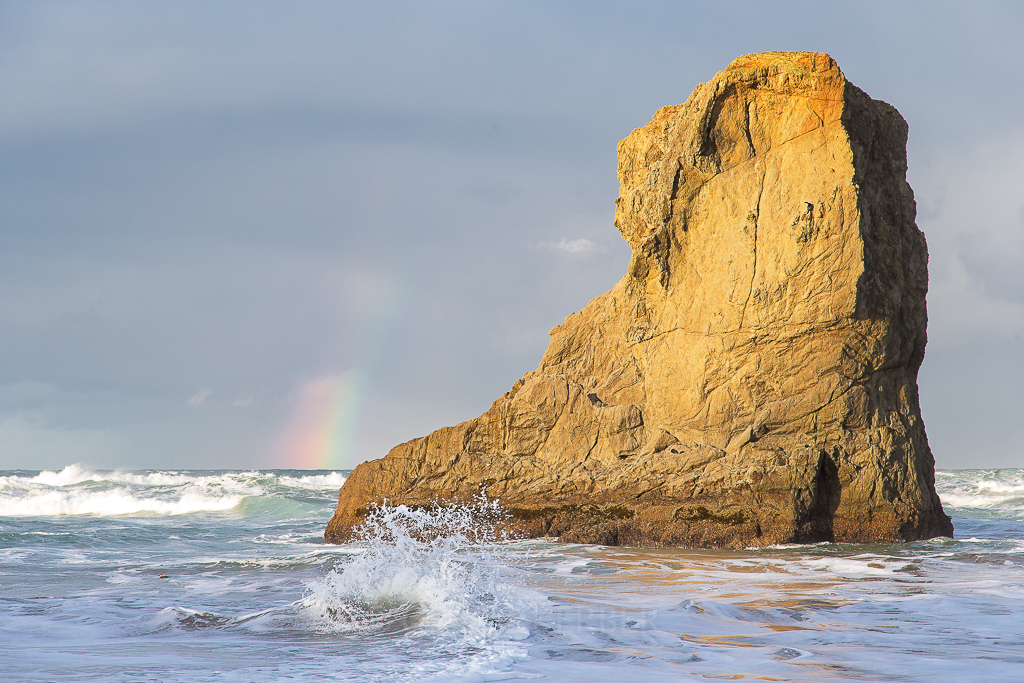 Rainbow at Bandon Beach