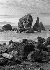 Sea stacks at Sisters Rocks