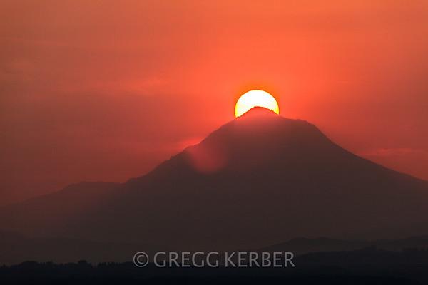 Sunrise over Mt Hood