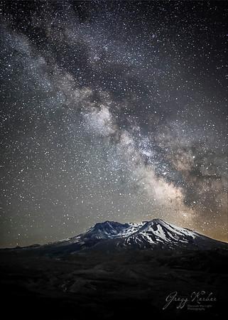 Milky Way over Mt St Helens