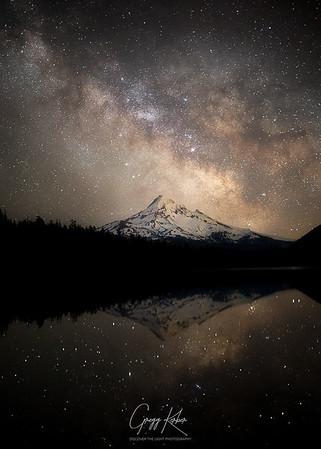 Milky Way over Mt Hood