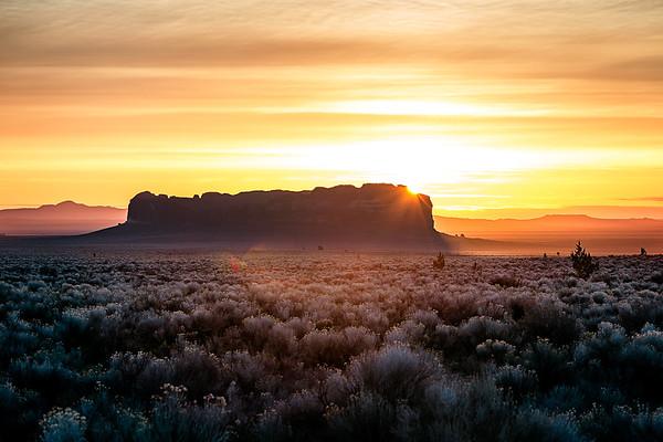 Sunrise over Fort Rock