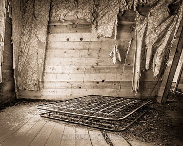 Old box springs in the Cornucopia bunkhouse