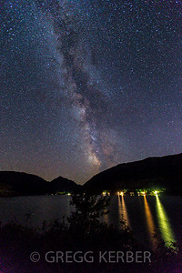 Milky Way and Wallowa Lake
