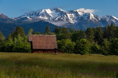 Wallowa mountains from Jim Town