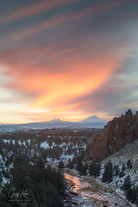 Sunset from Smith Rock State Park