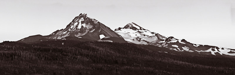North and South Sister from Dee Wright Observatory