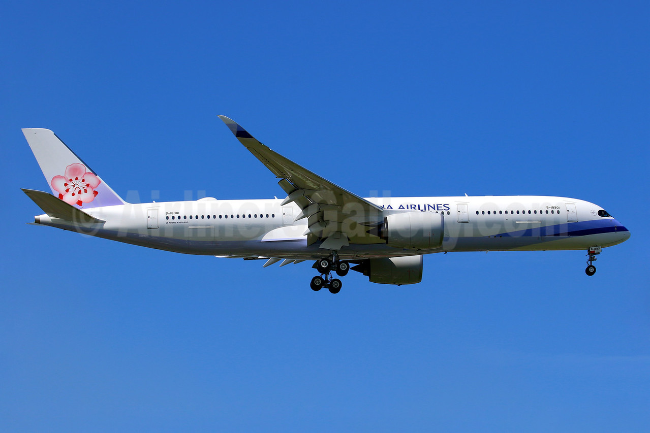 CAL's first Airbus A350-900 is delivered on September 30, 2016
